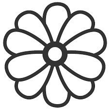 Cartoon Flower Coloring Page