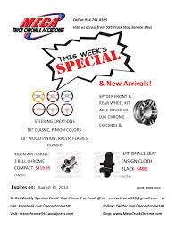 100 595 Truck Stop WEEKLY SPECIALS NEW ARRIVALS Meca Chrome At FL