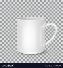White Cup On Transparent Background Drink Vector Image