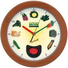 horloge murale cuisine index légumes pendule murale 1001 pendules