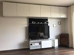ikea besta tv board wohnzimmer hochglanz weiß schwarz