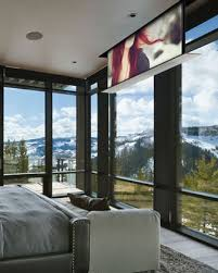 Drop Ceiling Mount Projector Screen by Master Bedroom Tv But The One That Flips Down So That It Can