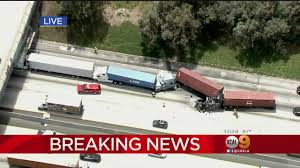 Multi-Semi Truck Crash Shuts Down Freeway « CBS Los Angeles 4 Injured After Semitruck And Greyhound Bus Crash Near Kettleman Best Truck Crashes 2015 2016 Driver Leaps To Safety As Train Into Inside Edition Tesla Owner Says Autopilot Saved Him From A Nearmiss With Video Semitruck Loses Control Crashes Gas Station In Cajon Caught On Video Driver Capes Semi Before Its Hit By Fatigue Contributing Factor Mondays Video Drowsy Driving Leads Fatal Truck At Nevada 3 Due Inattention Snarls Blaine Crossing Route 17 Crash Clip Shows Wreck It Happened Shocking Footage Of Minor Turned Major The 401