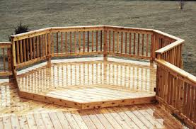 10 attached octagon deck addition at menards