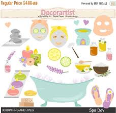 ON SALE Wedding Clipart Spa