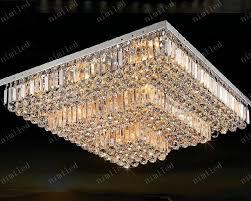 großhandel nimi143 l50 60 70 80 90 100 120 cm led kristall rechteckige quadratische deckenleuchte le beleuchtung für wohnzimmer esszimmer