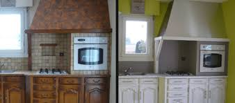 cuisine en comment repeindre une cuisine en chêne renovationmaison fr