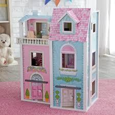 LED Light DIY Wooden Doll House Miniature Furniture Vintage Cottage