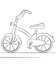 Click To See Printable Version Of Bicycle Coloring Page