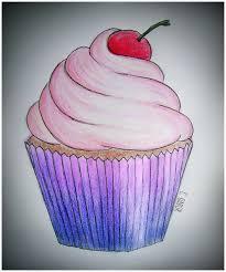 cupcake draw and drawing image