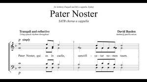 pater noster a new setting by david basden