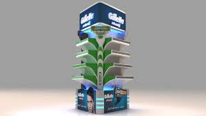 Gillette Product Display 3D 4 25 Innovative Exhibition Designs Stands Booth Collection