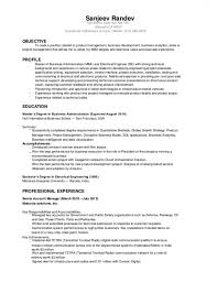 Download Sanjeev Randev Resume Electrical Engineer Mba 2014 Of Free Sample For Facilities Manager
