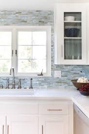 interior beautiful scandinavian kitchen with white countertop and