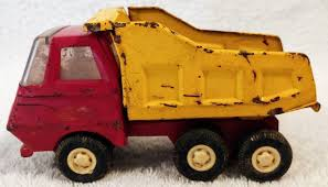 100 Tonka Dump Truck Metal Vintage Truck 55040 Red Yellow Wmoveable Etsy