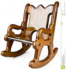 Child's Solid Wood Rocking Chair Stock Image - Image Of Children ...