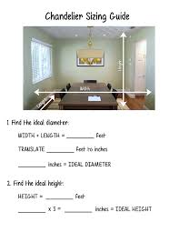 Dining Room Chandelier Size Guide