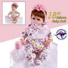 Dolls Reborn Handmade Lifelike Newborn Girl Doll Silicone Vinyl