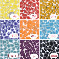 diy mosaic tiles for craft 200pcs mixed color ceramic mosaics home