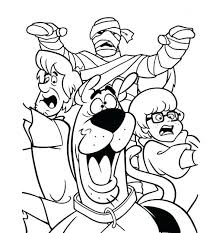 Scooby Doo Coloring Pages Online Free Download Monsters Unleashed