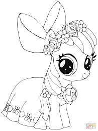 Click The My Little Pony Apple Bloom Coloring Pages To View Printable