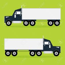 100 Truck Tracker Container On Green Background With Shadows