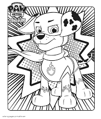 Paw Patrol Coloring Pages Tracker Preschool In Fancy