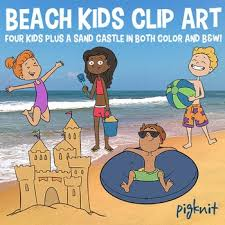 Beach Kids Clipart