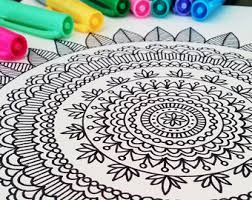 Mandala Coloring Book Adult Mehndi Henna Printable PDF 20 Pages By Katie N Dunphy