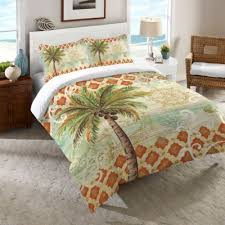 Laural Home Spice Palm Twin forter in Orange
