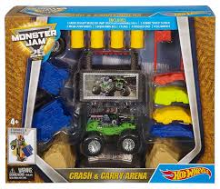 Hot Wheels Monster Jam 25 Crash N Carry Arena - 887961226867