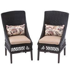 Hampton Bay Patio Furniture Cushion Covers by Hampton Bay Woodbury Patio Dining Chair With Textured Sand Cushion