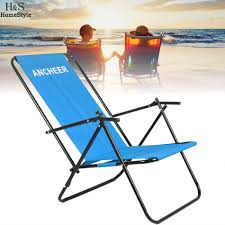 100 Folding Chairs With Arm Rests ANCHEER Portable Chair Outdoor Furniture Camping Recliner