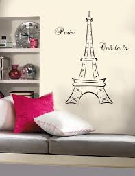 Eiffel Tower Bedroom Decor French Inspired Quirky Cool Parisian For Paris Theme Wall Art Image