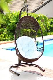 Alpine Alpine PE Wicker Swing Chair with Stand & Reviews