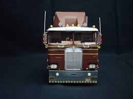 Two (2) Built 1/25 Scale AMT Model Semi-trucks Kenworth K-123 And ...