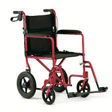 chaise roulante de transport en aluminium de invacare roues