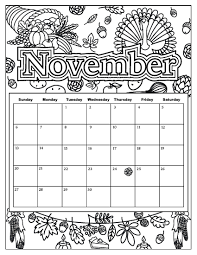 Added October 28 Pumpkin Is Everywhere And Leaves Are Changing Colors Get Ready For Thanksgiving With Novembers Colorable Calendar