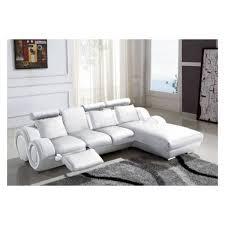 decoration canape d angle cuir blanc design blanc d la deco u
