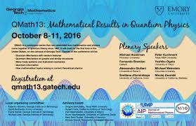 QMath13 Mathematical Results in Quantum Physics