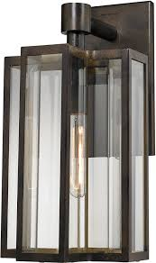 elk 45146 1 contemporary hazelnut bronze outdoor wall light