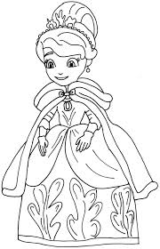 Free Printable Sofia The First Coloring Page In Her Winter Costume