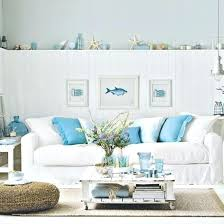 Beach Cottage Living Room Decorating Ideas In Nautical Decor Wall