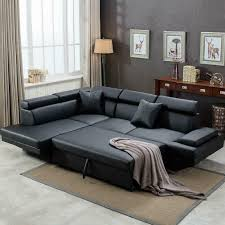 100 Modern Couches Details About Contemporary Sectional Sofa Bed Black With Functional Armrest Back L
