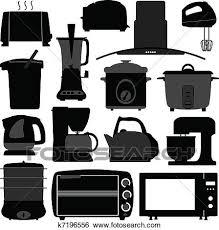 Clip Art Of Kitchen Appliances Electronic Tool K7196556