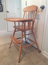 Vintage High Chair With Wheels