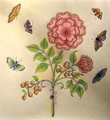 My Flower From Secret Garden Coloring Book Welcome To Olly LoveArt