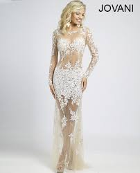 sheer beaded lace prom dress 89256 dress impress