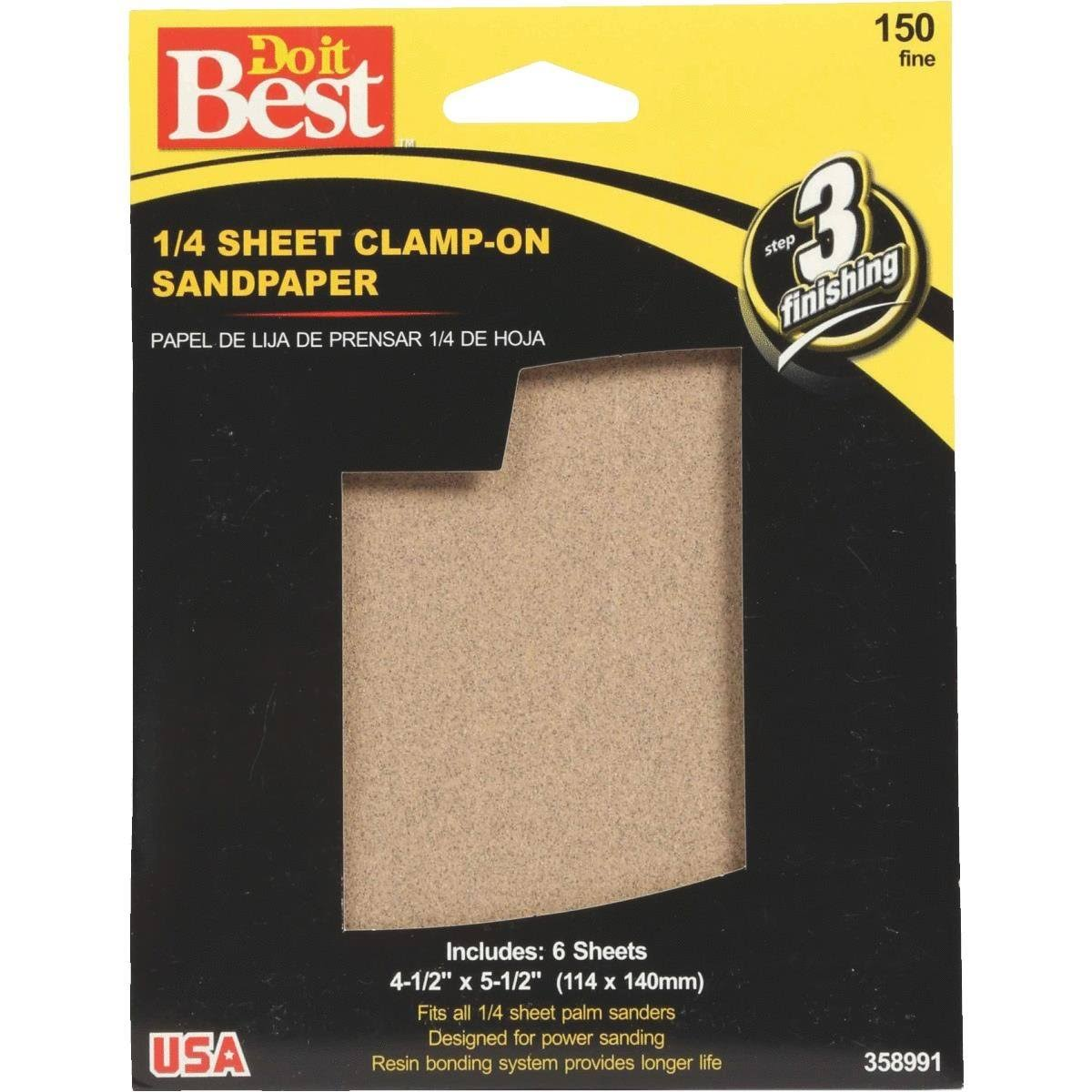 Do it Best Sheet Sandpaper - 1/4