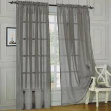 Sheer Curtain Panels Walmart by Better Homes And Gardens Scallops With Poms Curtain Panel Image 1